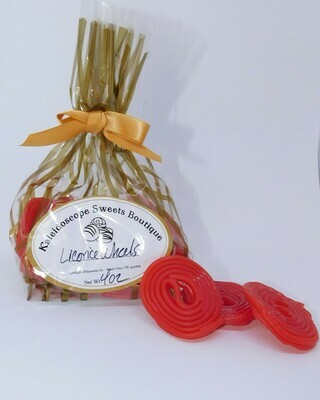 Red Licorice Wheels - 4 oz bag