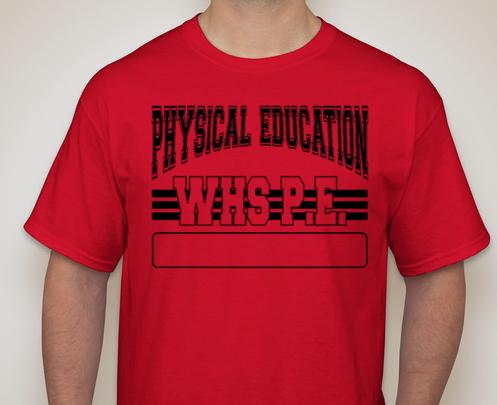 Freshman PE Tshirt - NOT personalized 00000