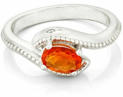 Jardin Élysée—Silver/Fire Opal