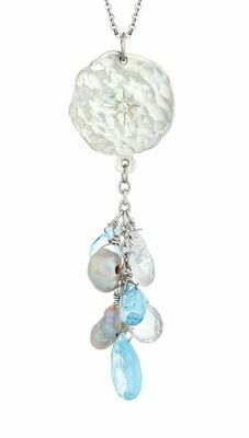 Sorrento—Silver/Blue & White Topaz