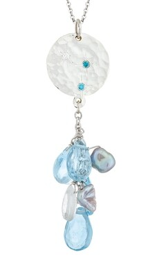 Sorrento—Silver/Blue Topaz & Moonstone