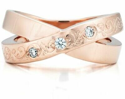 French Kiss Deux—Rose Gold/Diamond
