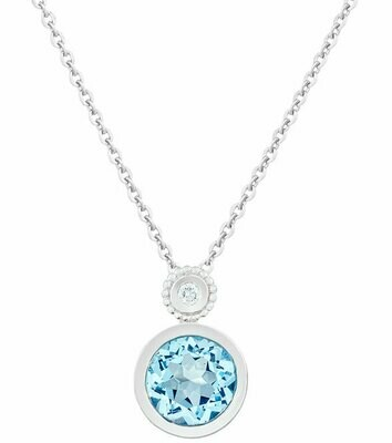 Tuileries—Silver with Blue Topaz