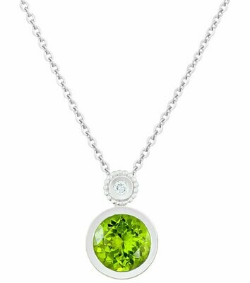 Tuileries—Silver with Peridot