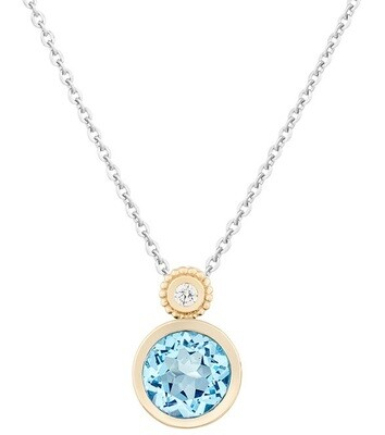 Tuileries—Yellow Gold with Sky Blue Topaz