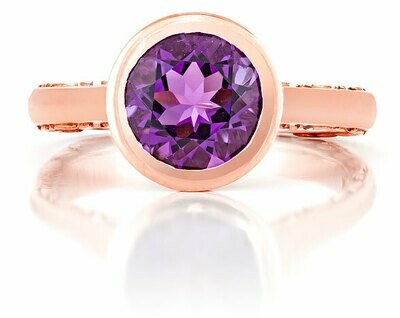 Tuileries—Rose Gold with Amethyst