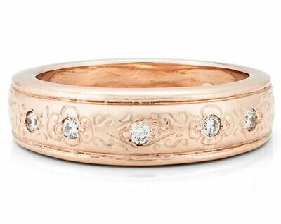 Bella Italia—Rose Gold/Diamonds-6mm
