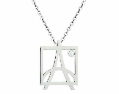 Skyline Pendant—White Gold/Diamond