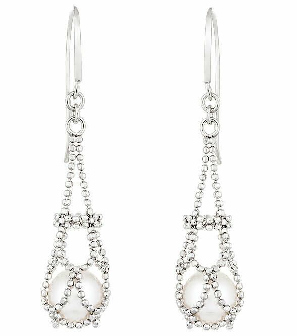 Imperial Lace Pearl Earrings