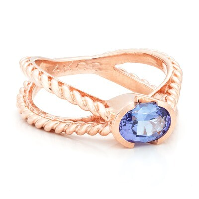 Brooklyn Bridge—Rose Gold/Tanzanite