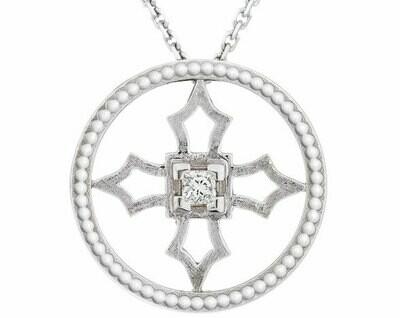 Fontana Pendant—White Gold/Diamond