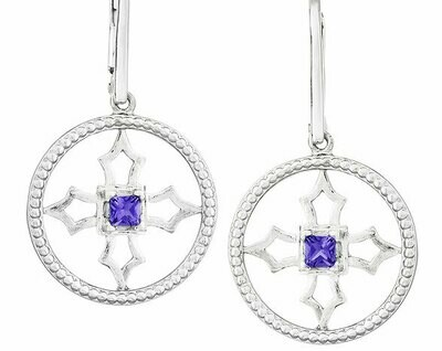 Fontana Earrings—Silver/Amethyst