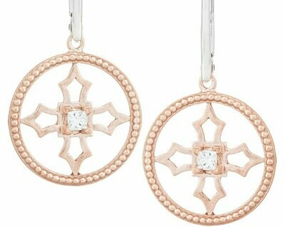 Fontana Earrings—Rose Gold/Diamond