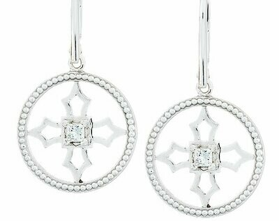 Fontana Earrings—White Gold/Diamond