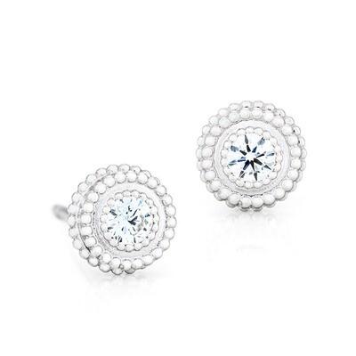 Petit Trésor Earrings—White Gold w/ Diamonds