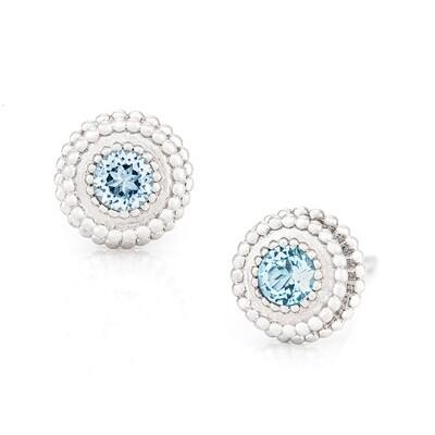 Petit Trésor Earrings—White Gold w/ Topaz