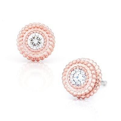 Petit Trésor Earrings—Rosee Gold w/ Diamond