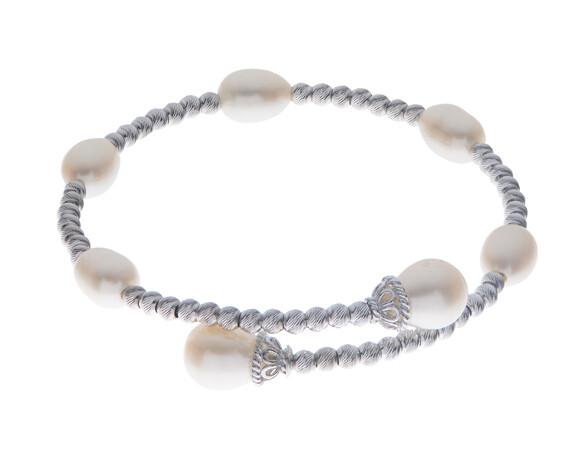 Brilliance Station Cuff Pearl Bracelet.
