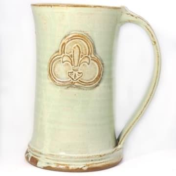 Ceramic Tall Mug Trinity Logo Seafoam