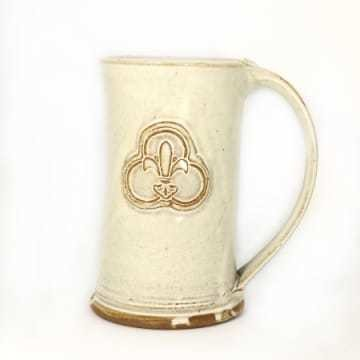 Ceramic Tall Mug Trinity Logo White