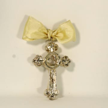 India Stewart Ornament Trinity Cross Large - Silver