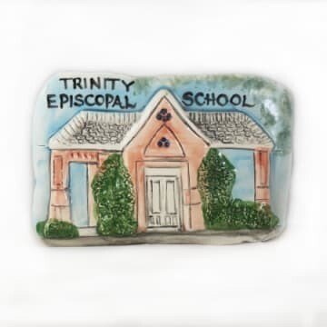 Trinity School Ceramic Plaque by Jenise