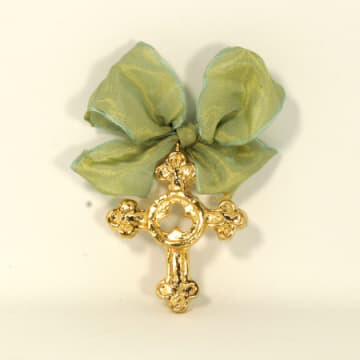 India Stewart Ornament Trinity Cross Small - Gold