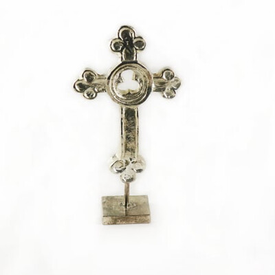 "India Stewart Trinity Cross Large Silver 4.5"" x 2.5"""