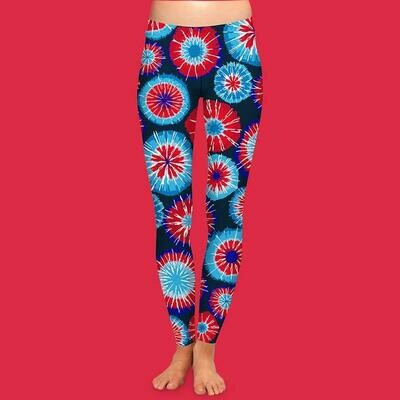 Firecracker Patriotic Leggings S/M