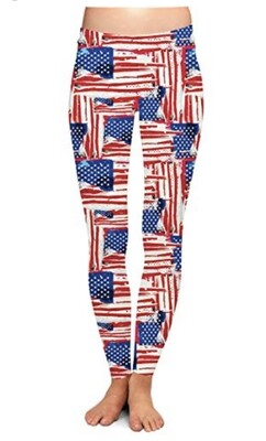 Patriotic Leggings American Flag S/M