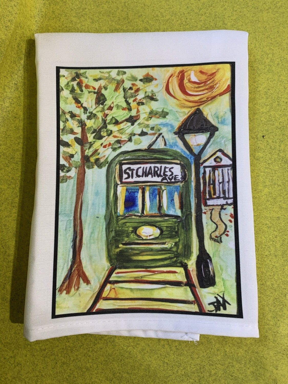 Artist Jax Frey Streetcar Tea Towel