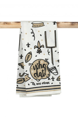 Saints Who Dat Kitchen Towel