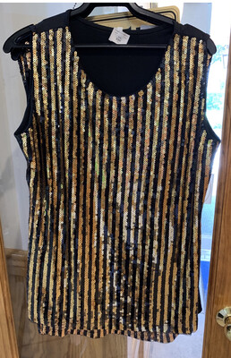 Black and Gold Saints Top Size M