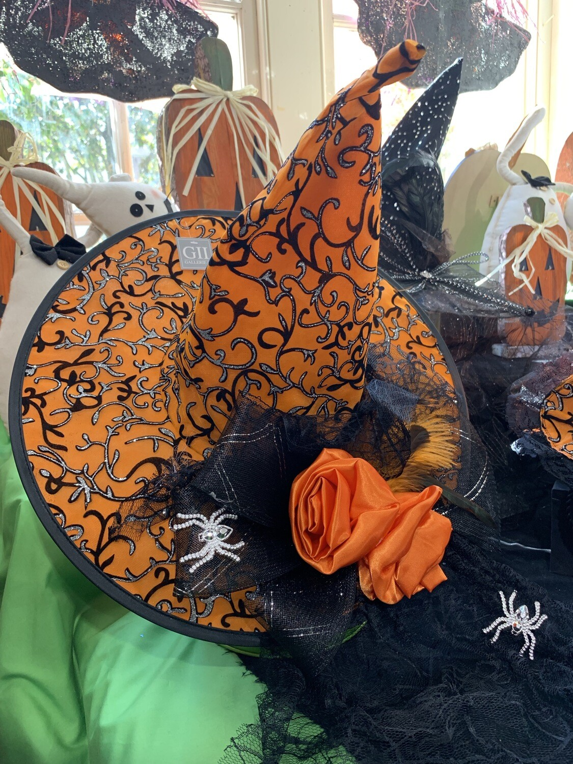 Large Witch's Hat (orange and black)