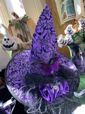 Large Witch's Hat (purple and black)