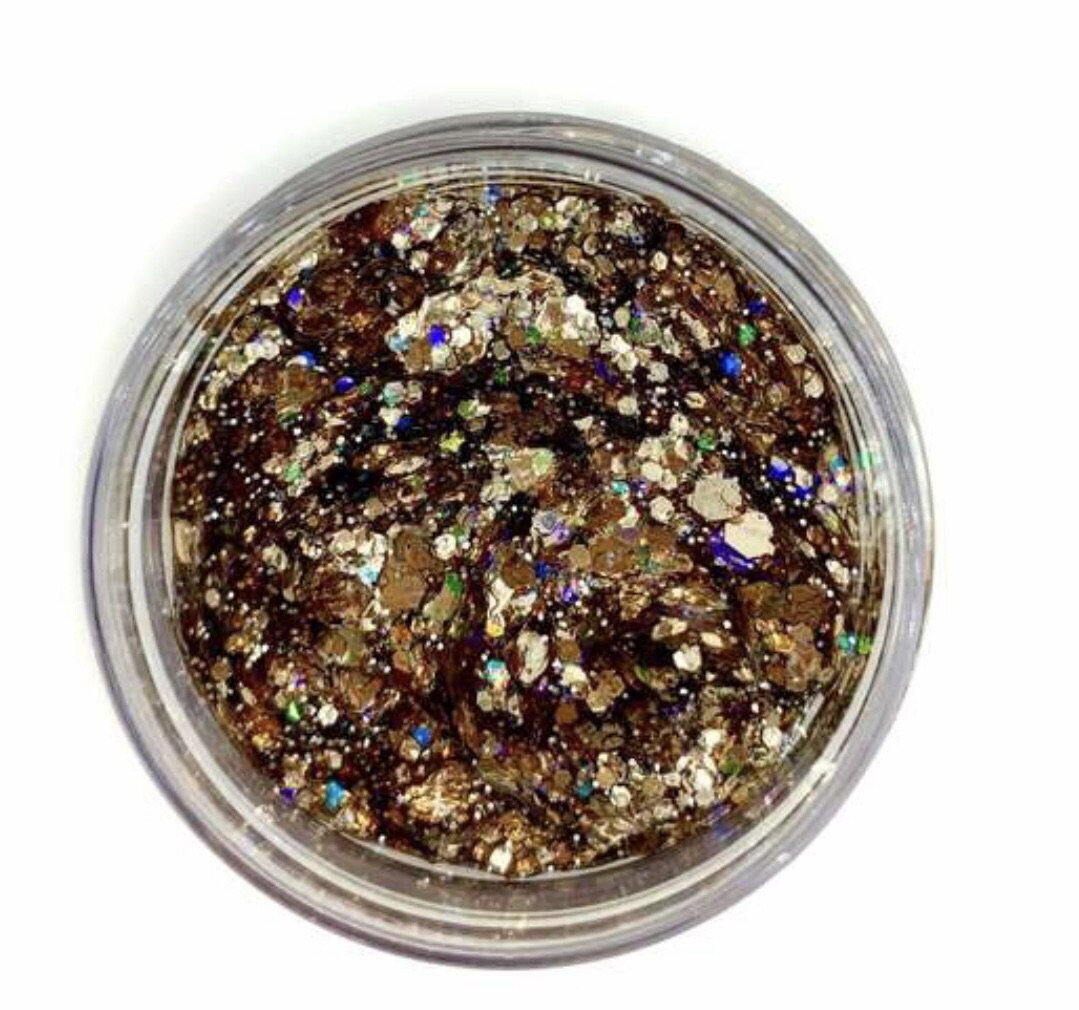 Galexie Glister Black and Gold Body Glitter
