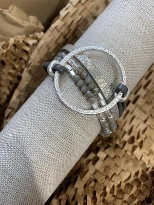 Island Bracelet Silver Circle