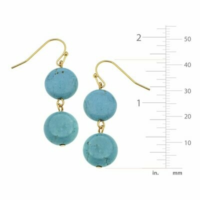 Susan Shaw Turquoise and Gold Earrings