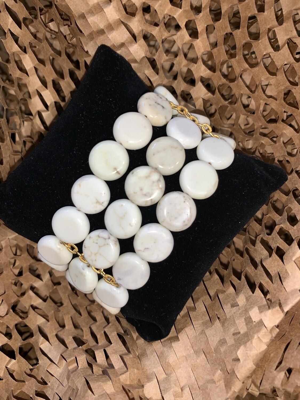 Susan Shaw White Turquoise Bracelet