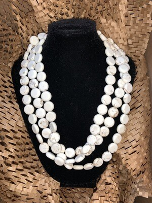 Susan Shaw White Turquoise Necklace