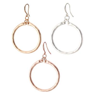 Gold Hoop Earrings 2 inches