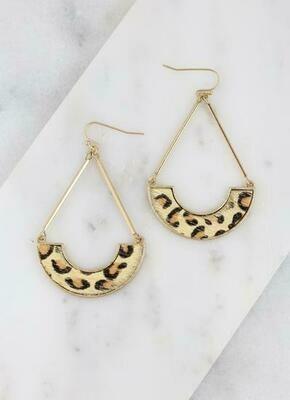 Drop Animal Print Earring Leopard