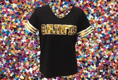 Sparkle City Saints Jersey Tees Size M