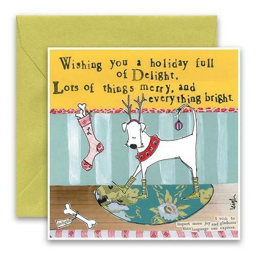 Dog Reindeer Christmas Card Set of 8