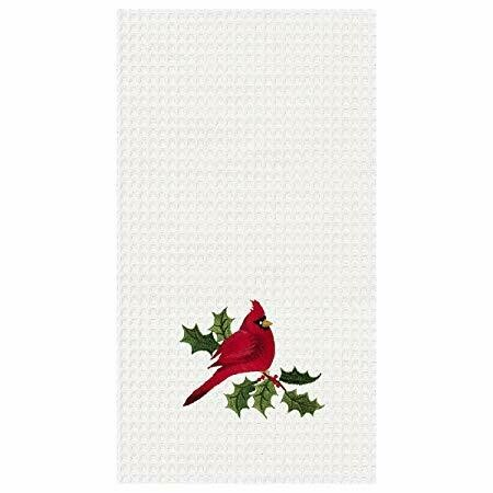 Cardinal and Holly Kitchen Towel