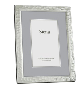 Silver Plate Narrow Hammered Frame 4x6