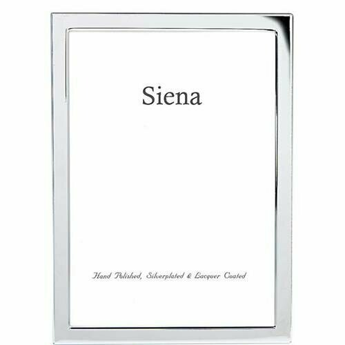 Silver Plated Narrow Border Frame 4x6
