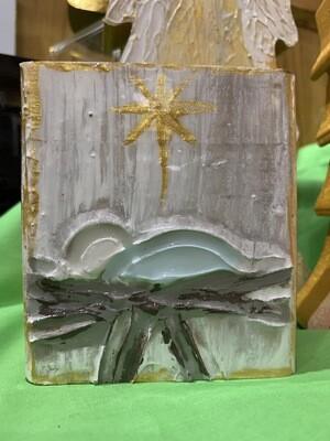 4x4 Block Nativity Art