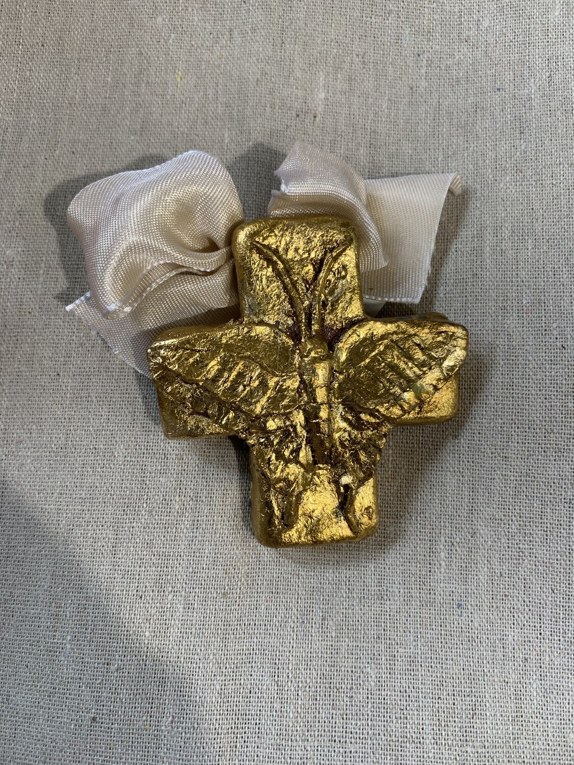 India Stewart Resin Cross Butterfly