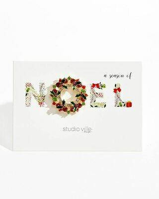 Noel Christmas Tree Holiday Glitz Brooch Pin